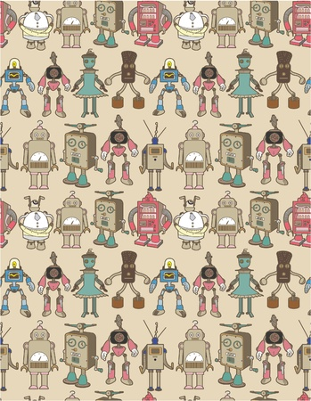 seamless robot pattern Stock Vector - 8472621