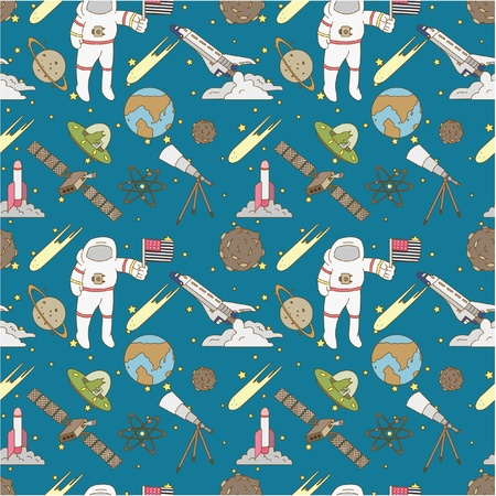 seamless space pattern Stock Vector - 8472605