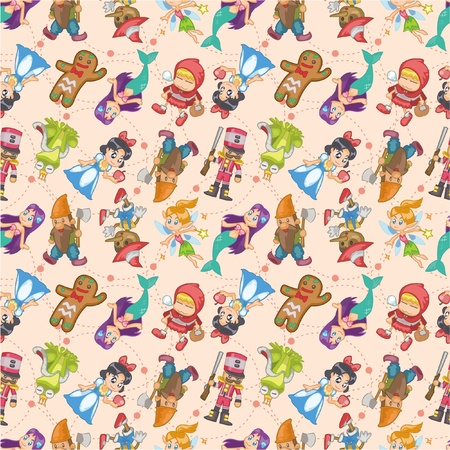 seamless story people pattern Vector