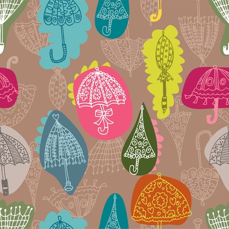 seamless umbrella pattern Stock Vector - 8472566