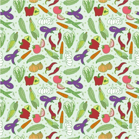 soup and salad: seamless vegetable pattern