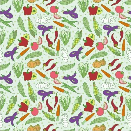 green peas: seamless vegetable pattern