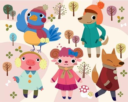 zorros: animal de dibujos animados sexy Vectores