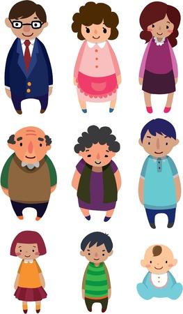 abuela: elemento de familia de dibujos animados sexy Vectores