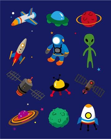 cartoon space icon Vector