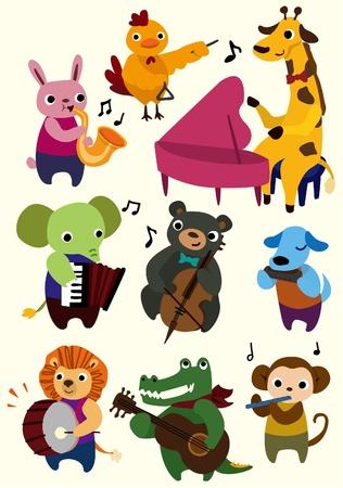 flutes: cartoon music animal icon