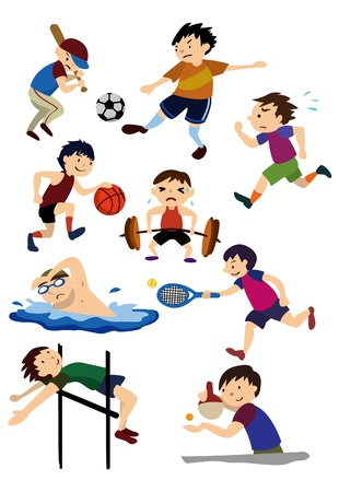 cartoon sport icon Vector