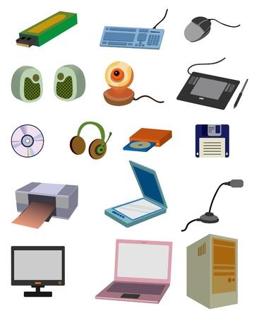 cartoon computer icon Vector