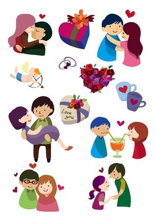 paloma caricatura: Caricatura de San Valent�n icono
