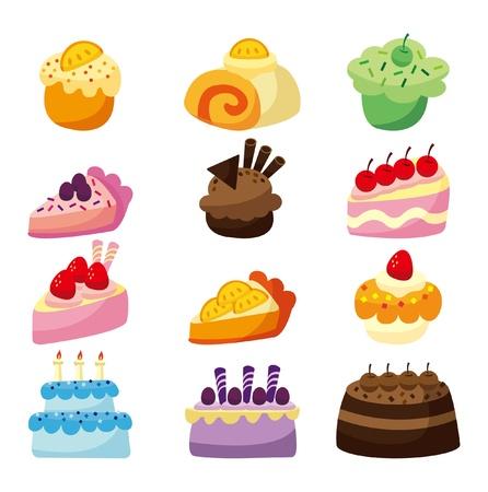 cartoon cake Stock Vector - 8501584