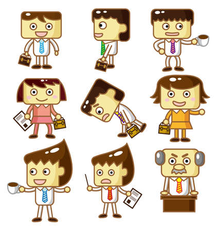 cartoon workers Vector