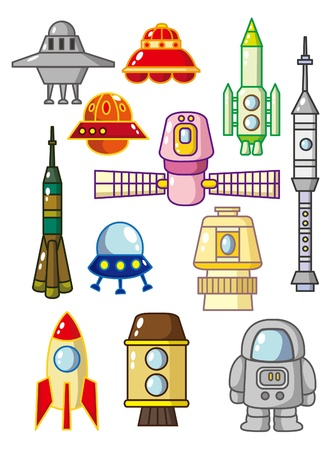missiles: cartoon space element