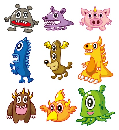 cartoon Monster Stock Vector - 8502712