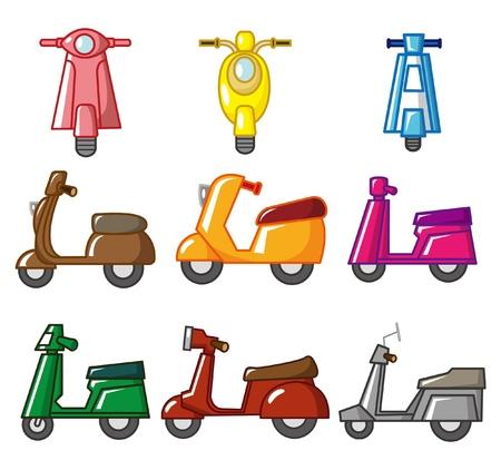 recreational vehicle: cartoon motorcycle