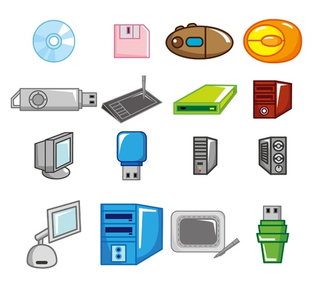 cartoon computer icon Stock Vector - 8502687