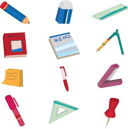 staplers: stationery doodle Illustration