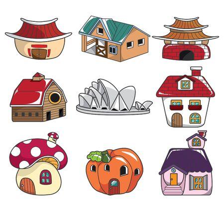 row houses: doodle house