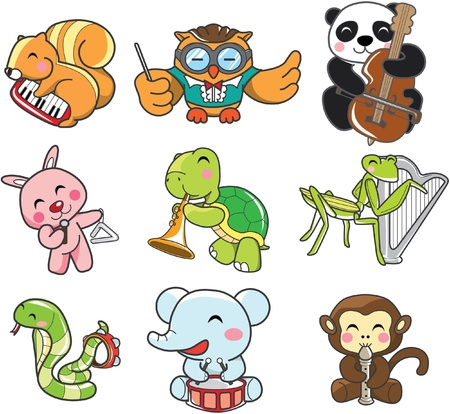 animal play music Vector
