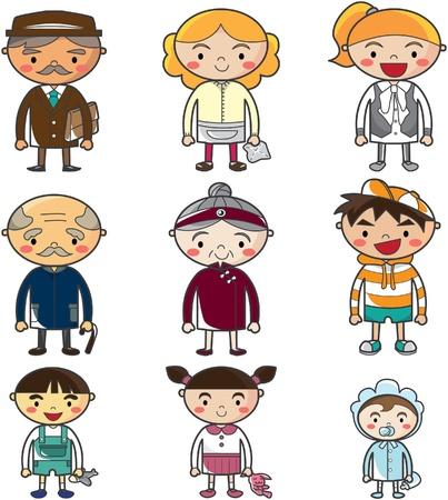 cartoon family Stock Vector - 8509711