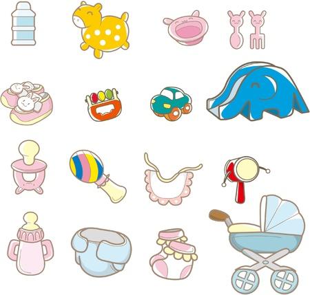 pink cap: cartoon baby thing