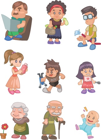 grandchildren: cartoon family