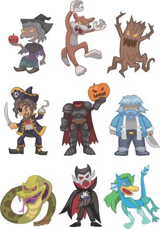 the villain: story villain Illustration