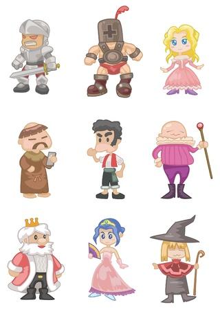 cartoon soldat: Cartoon mittelalterlichen Menschen