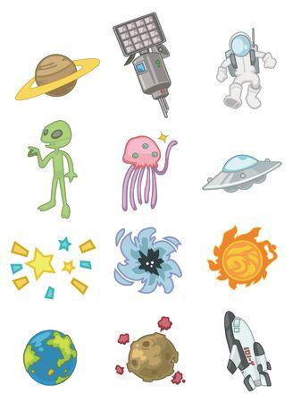 cartoon space icon Stock Vector - 8509728