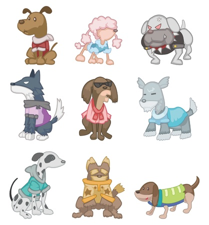 犬歯: 漫画の犬  イラスト・ベクター素材