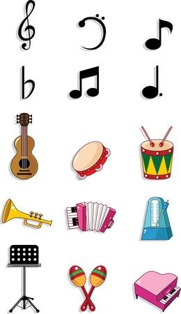 drum set: music doodle Illustration