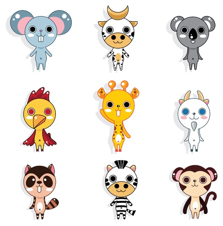 zebra heads: doodle animal