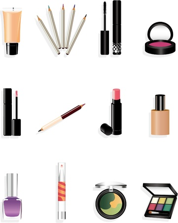 cartoon Makeup Stock Vector - 8509734