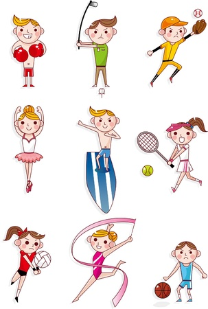 gymnastics sports: cartoon sport