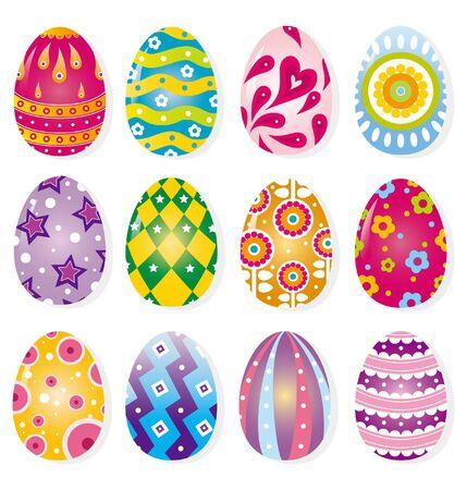 huevo caricatura: huevo de color de dibujos animados Vectores
