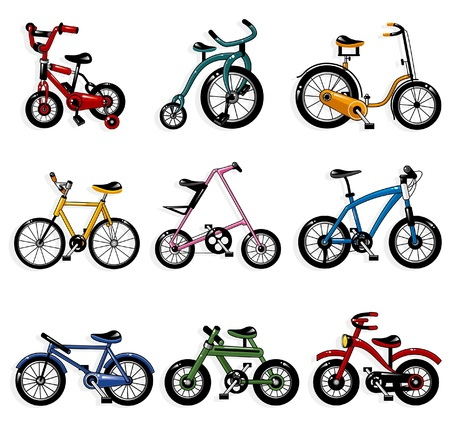 sport cartoon: cartoon bicycle