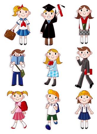 school classroom: cartoon student icon