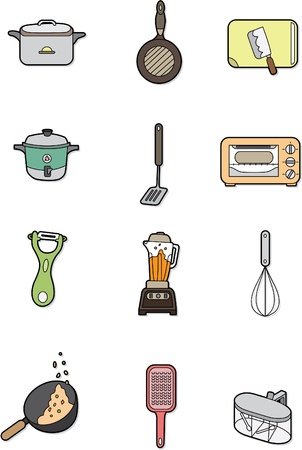 cartoon kitchen element Vector