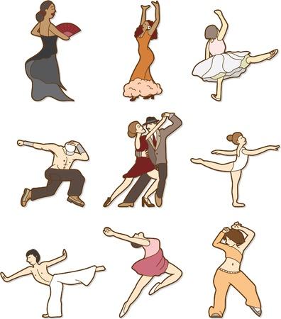 dancing doodle Vector