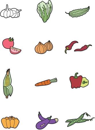 verduras de dibujos animados Ilustración de vector