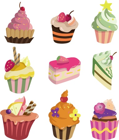 cartoon cake 矢量图像