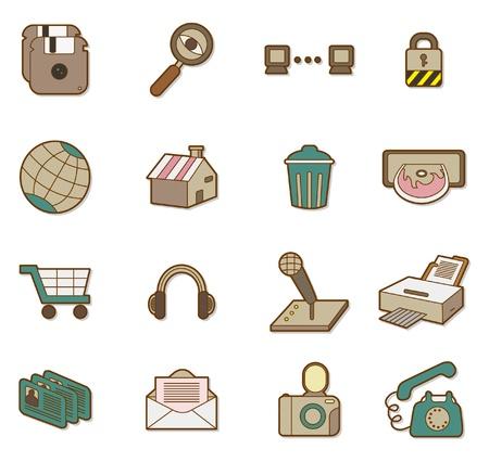 cartoon web icon Stock Vector - 8504746