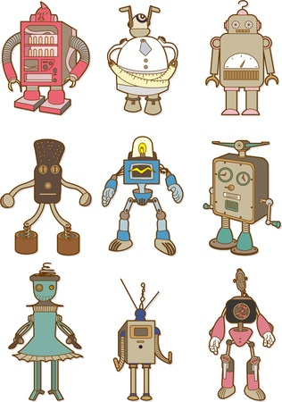 cartoon robot Stock Vector - 8504793