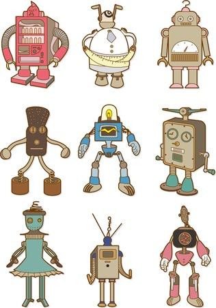 cartoon robot Ilustracja