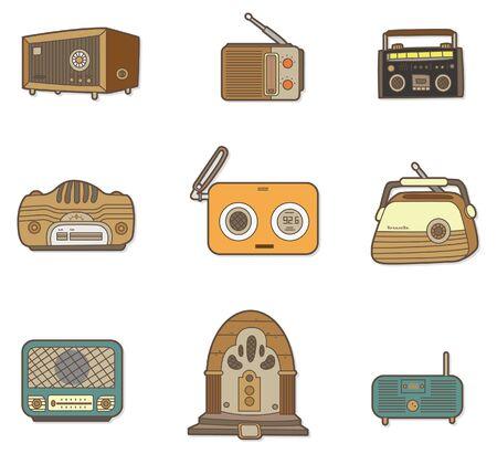 clipart speaker: cartoon radio Illustration