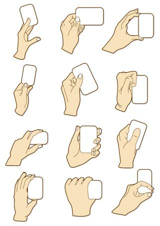 만화 손 카드