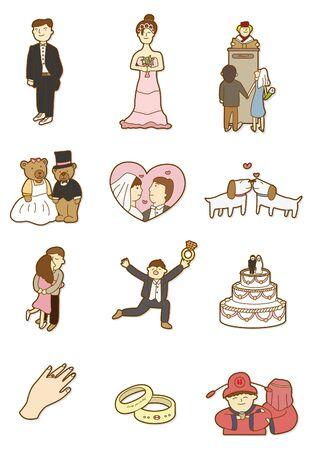 cartoon wedding icon Vector
