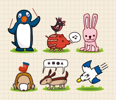 hand draw animal Stock Vector - 8504801