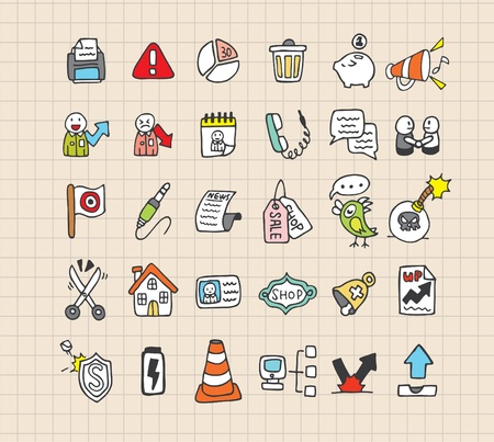 hand draw web icon Vector