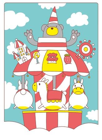 ferris: Paradise merry go round Illustration