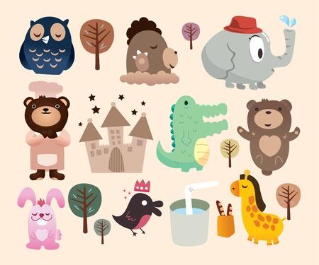 cute animals zoo Vector